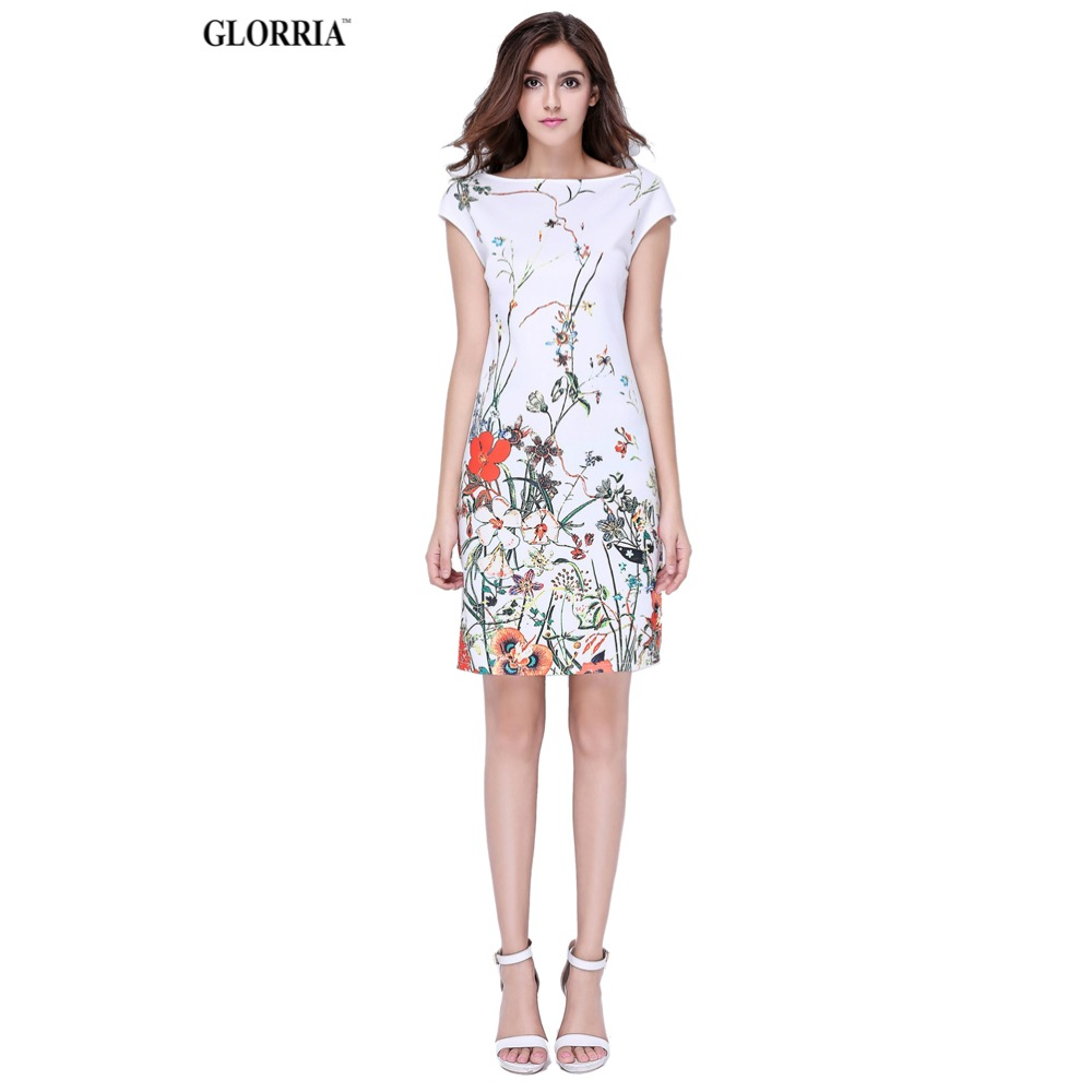 Glorria Women Summer Wear to Work Floral Print Sla...