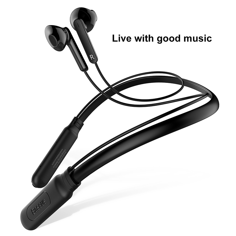 Baseus Sports Bluetooth Earphone for phone Wireless Bluetooth Headset with Mic Noise Cancellation magnetic Wireless Earbuds     <br>