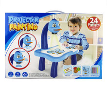 Baby Drawing Learning Desk Toy With Project Function Children Educational Musical Painting Table Kids Favor(China)