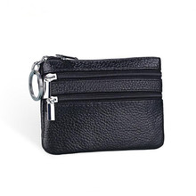 Genuine Leather Coin Purse Women Small Wallet Change Purses Money Bags Children's Pocket Wallets Key Holder Mini Zipper Pouch(China)