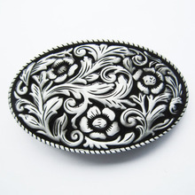 Retail Distribute Black Western Cowgirl Flower Vintage Belt Buckle BUCKLE-WT097BK Free Shipping
