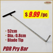 Steel PDR Tools push rod dent pull repair removal hooks prybar paintless hood door panel hail damage collision repairs pry bar(China)