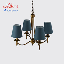 4 Arms Modern Chandelier Simple Fabric Lamp Shade Living Room Bedroom Traditional Lustre