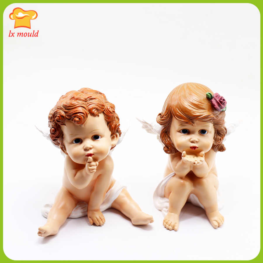 Baby Angel #4 Silicone Mold Mould Chocolate Polymer Clay Soap Candle Wax