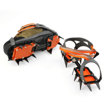 1 Pair of Bundled Crampons Professional 14-point Manganese Steel Ice Gripper Ice Crampons Snow Board For Skiing Climbing