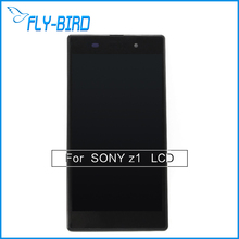 5PCS/LOT Black Lcd display For Sony Xperia Z1 touch screen with complete digital assembly & replace Free ship(China)