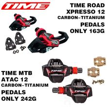 Time Xpresso 12 ATAC 12 Titan Carbon Pedals Road MTB Bike Pedals Bicycle Parts Titanium Ti Pedal lock card bicycle bike pedals
