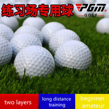 Practice ground golf practice ball blank double Golf ball beginner amateur two layers long distance training Resistant to blows(China)