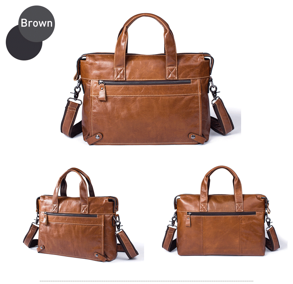 9 bag men genuine leather
