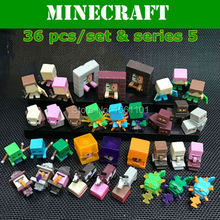 Newest Minecraft Game 36pcs/set Series 1/2/3/4/5 Minecraft  Model Creeper Steve Endman  Action  Figure Toy Models  kids' Gift