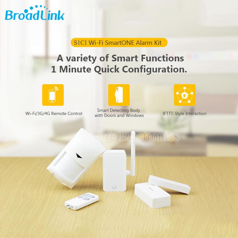 Broadlink S1C SmartOne Wireless Alarm&amp;Security Kit Detector Sensor IOS Android Wifi Remote Control Smart Home Automation System<br>