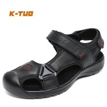 K-TUO New Arrival Men Spring Walking Shoes Male Outdoor Sport Summer Sneakers Walking Genuine Leather Sandals KT-1519(China)
