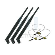 3  6dBi RP-SMA Dual Band WiFi Antennas + 3  U.fl for Mod Kit Linksys WRT160NL WRT400N