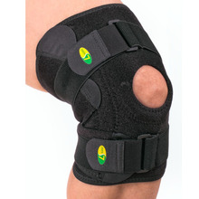 ports Kneepad 3-tier Structure 2 Adjustable Band Knee/Joint Ligament Gear Black(China)