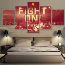 HD print 5 pcs Canvas art USC Football Sport painting on canvas modern home decor Wall Art painting Picture