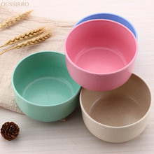 Eco-friendly and Healthy Kitchen Wheat Straw Bowl Household Soup Noddle Rice Container High-capacity   Solid Bowl