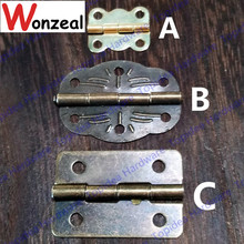 5pcs/lot Iron lash hinge door hinge satin finish furniture hinge(China)