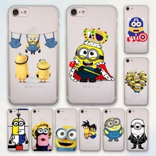 Cute Minions king bob Minions design hard Transparent clear Case Cover for Apple iPhone 7 6 6s Plus SE 5 5s Phone Case