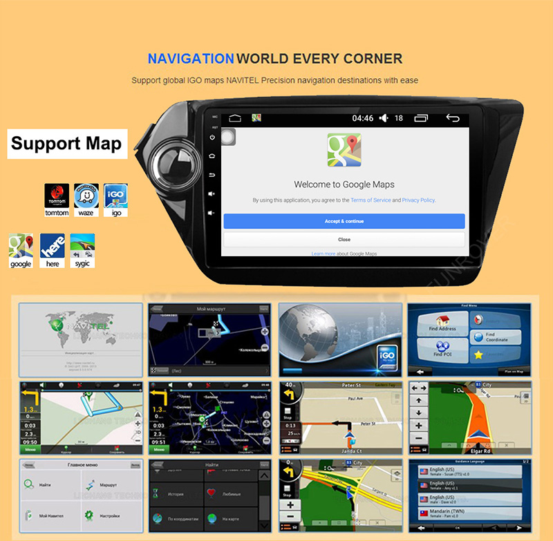 Android 7.1.1 10.1 Inch Car DVD GPS Video Player For KiaRioK2 2012- WIFI USB Radio Navigation 2G RAM 16 ROM Quad Core 1.6GHZ