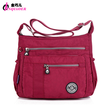 JINQIAOER Brand Casual Women Messenger Bag bolsa feminina Waterproof Nylon Shoulder Bag Book Satchels Designer Crossbody Bags