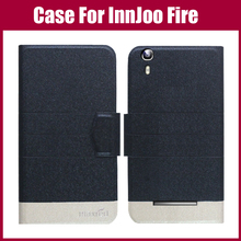 Hot Sale! InnJoo Fire Case New Arrival 5 Colors Fashion Flip Ultra-thin Leather Protective Cover For InnJoo Fire Case