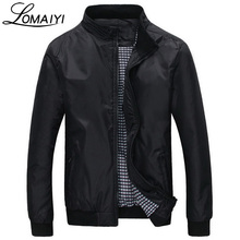 LOMAIYI Fashion Male Jacket Coat Men 2017 Spring Business Casual Clothes Boss Thin Windbreaker Mens Black Bomber Jackets,BM041