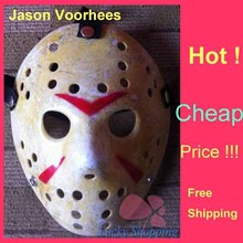 Black Friday NO.13 Jason Voorhees Freddy hockey Festival Party Full Face Old Mask Yellow 100gram PVC For Halloween 50pcs/lot