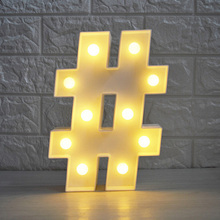 New Arrival # @ Symbol LED 3D Night Light Arrow Atmosphere Nightlight Marquee Desk Table Lamp Letter For Kids Gift Decoration