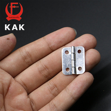 30pcs KAK 25mm x 20mm Silver Mini Door Hinges Cabinet Drawer Jewellery Box Mini Hinge With Screws For Furniture Hardware