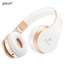 Picun Bluetooth Headphones Wireless Earphones Stereo Bass Headset Earbuds Foldable Sport Earphone With Microphone MP3 Player(China)