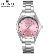 5 Fashion colors CHENXI CX021B Brand relogio Luxury Women's Casual watches waterproof watch women fashion Dress Rhinestone watch(China)