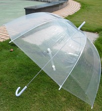 Wholesale - clear bubble umbrellas, transparent dome shape umbrellas, gossip girl umbrellas, 40pcs/lot(China)
