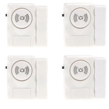Home Security Door Window Entry Burglar Alarm Safety Alarm Warning System With Magnetic Sensor 4PCS /lot Wholesales