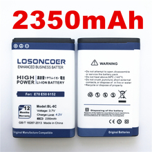 100% Original LOSONCOER 2350mAh Battery for Nokia QDA+ 2110 2116 2125 2855 2865 6015i 6016i 6019i 6152 6152 6275 E70 6255 BL-6C(China)
