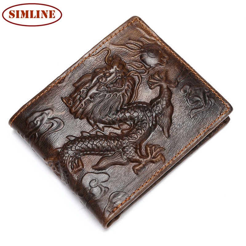 Top Quality New Arrival Genuine Leather Wallet Standstone Men Wallets Luxury Dollar Price Vintage Male Purse Coin Bag<br><br>Aliexpress