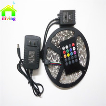 5M I-Living 150 leds flexible tape music controller 5050 RGB LED strip 30 leds/m 12V 2A Adapter Light Decoration Light Full Set
