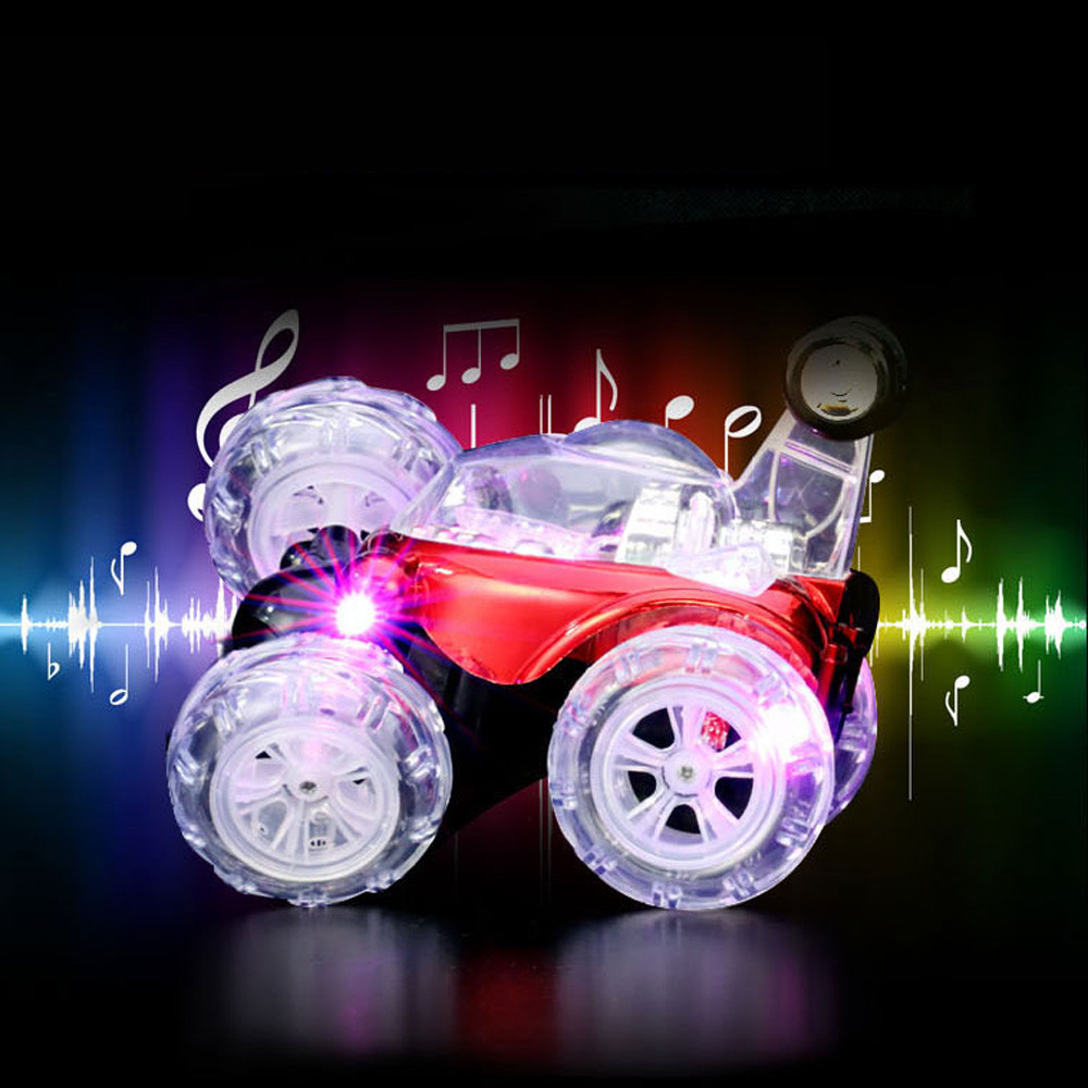 radio-controlled toys car New 360Spinning Flips Color Flash & Music Kids Remote Control Rc car auto