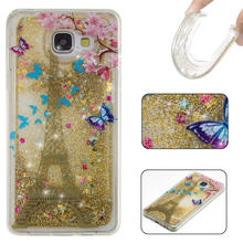 Water Case Cover for Samsung Galaxy A3 A5 2016 A310 A510 Skin Crystal Clear Cover Dynamic Liquid Glitter Sand Quicksand Star