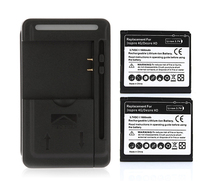 For HTC Desire HD G10 Ace A9191 For Inspire 4G T8788 2x 1600 mAh Battery+USB Wall Charger Free Shipping