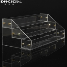 Pro 3 Tiers Removable Nail Polish Shelf Acrylic Clear Cosmetic Varnish Display Stand Rack Holder Women Makeup Organizer Case(China)