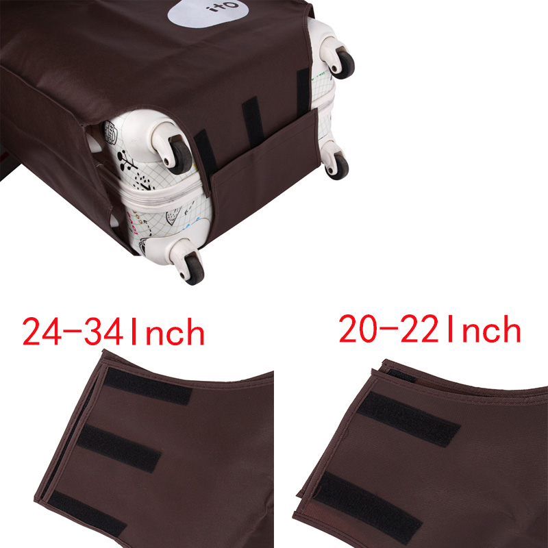 "Travel Suitcase Protective Cover Luggage Case Travel Accessories Non-woven Travel Luggage Suitcase Dust Cover Suit For 20""-28"""