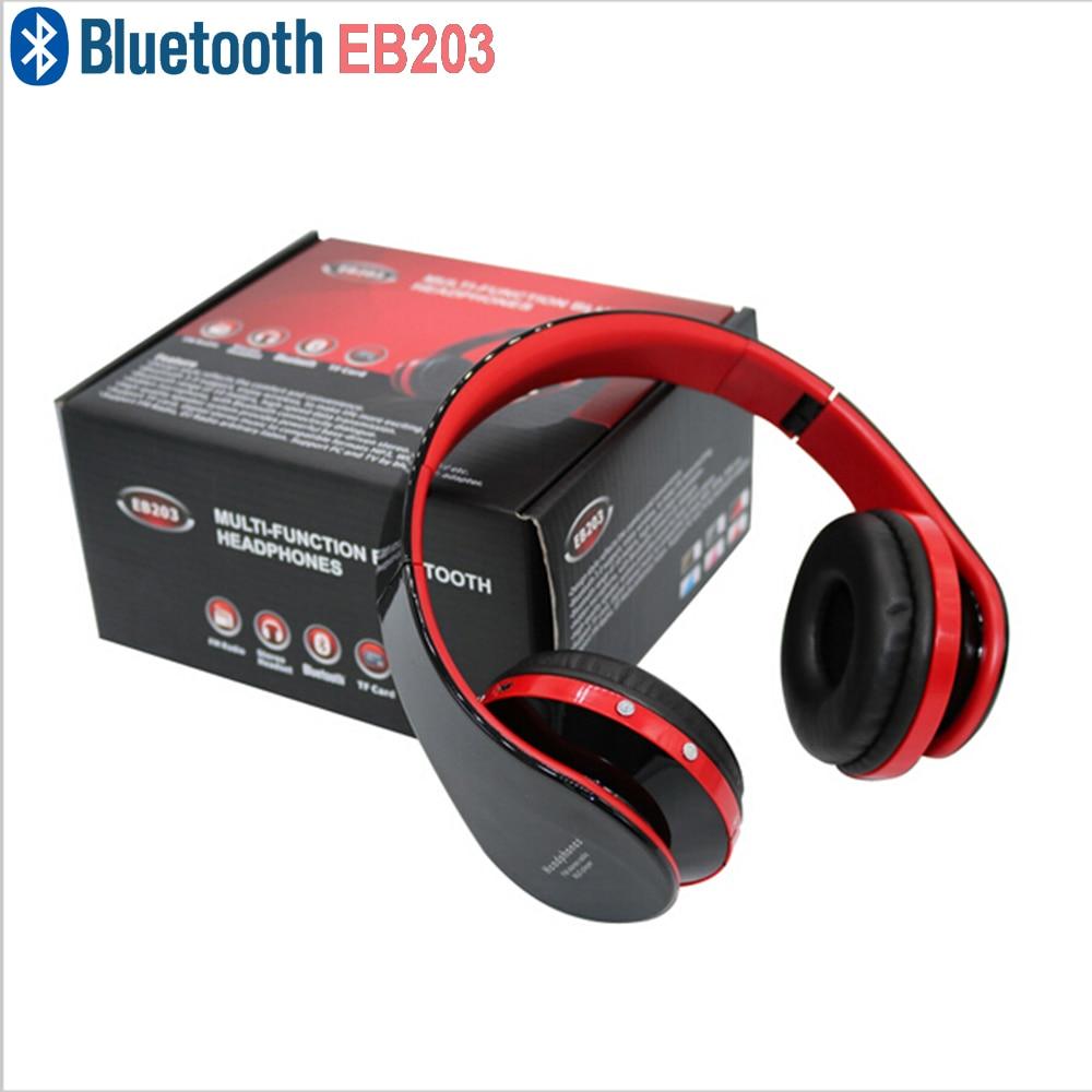 EB203 High Surround Sound Wireless Stereo Bluetooth Headphone Headset Mic TF Card FM Radio For Samsung Apple  PC Huawei<br><br>Aliexpress