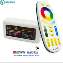 1Pcs 2.4G Mi Light RGBWW LED Wireless Remote Controller 2.4G RGBWW LED Controller Touch For LED Strip Bulb Downlight(China)