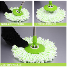 1pc 360 Degree Rotating Mophead Microfiber Cloth Replacement Mop Head Floor Sweeper Kitchen Bathroom Household Supplies Lovely(China)