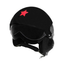 Motorcycle Scooter Helmet Air Force Jet Pilot Flight DOT ECE Open Face Helmet, L(China)