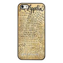 Led Zepplin Rock Song Lyrics Phone Case Cover for iphone 4 5s 5c SE 6 6s 6plus 6splus Samsung galaxy s3 s4 s5 s6 s7 edge