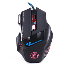HOT Professional Wired Gaming Mouse 7 Button 5500DPI LED Optical USB Cable Computer Mouse Gamer Mice For PC Laptop Desktop X7