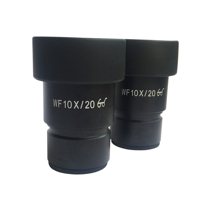 One Pair WF10X Eyepiece for Stereo Microscope Wide Field 20mm with Rubber Eye Cups Guard Mounting 30mm WF10X/20 High Eye-point<br>