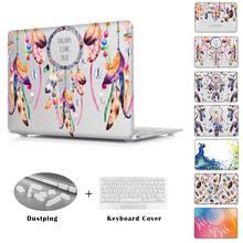 Dream catcher павлиньи перья Pattern Большой Ноутбук Чехол Для Macbook Pro 13 A1278 Ясно Трудный Случай Для Macbook Air 13 15 дюйма