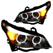 for BMW 5-Series E60 523i 525i 530i Projector LED Headlights Assembly 2003 to 2010 year Angel Eye ( Not for the AFS Models)(China)